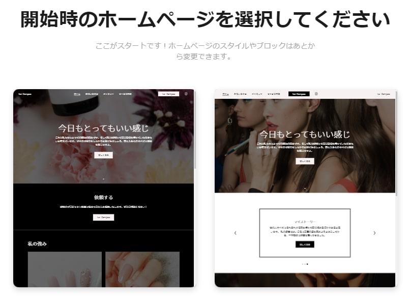 開始時のホームページを選択
