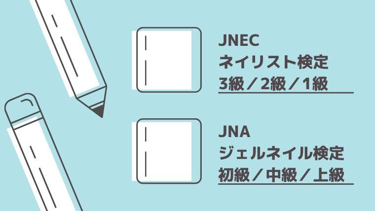 取得できるネイル資格(JNECネイリスト検定・JNAジェルネイル検定)